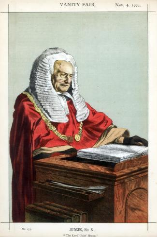 The Lord Chief Baron, 1871 Giclee Print