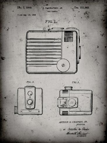 PP606-Faded Grey Kodak Brownie Hawkeye Patent Poster