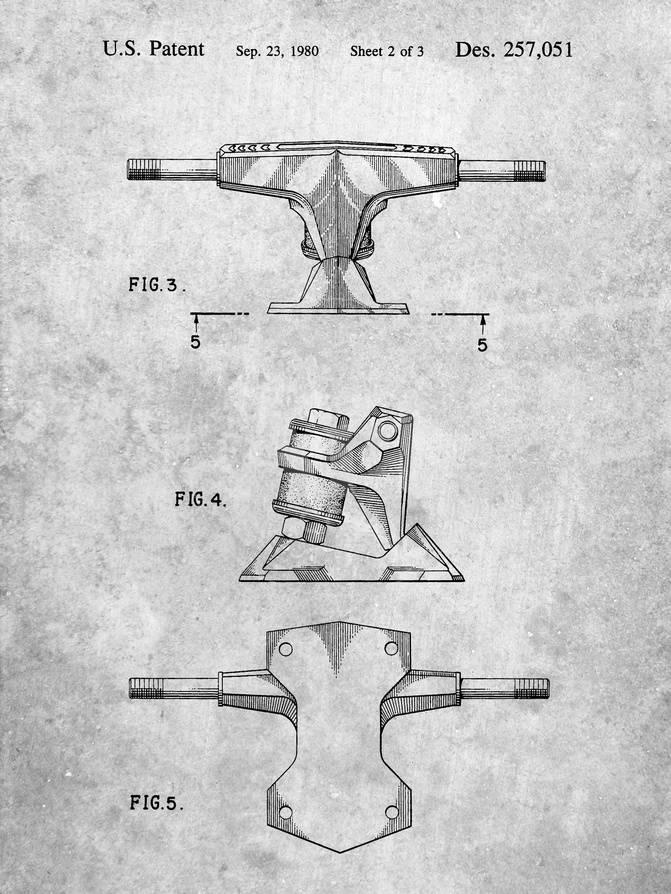 Skateboard Trucks Patent Prints By Cole Borders Allposters