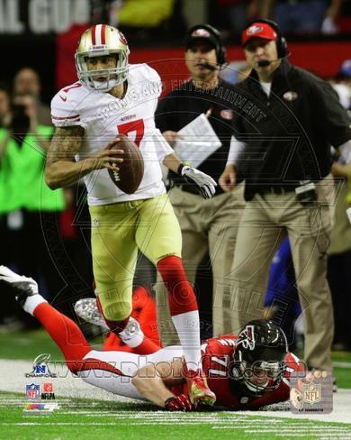 Colin Kaepernick 2012 NFC Championship Game Action Photo
