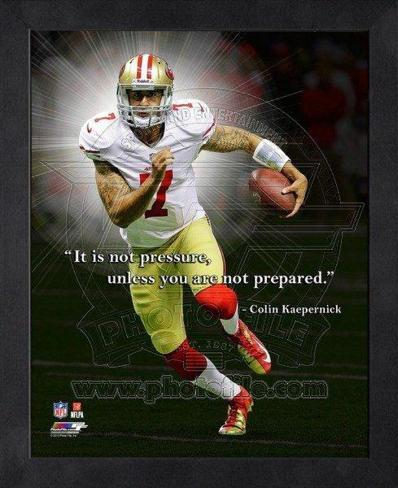 Colin Kaepernick, San Francisco 49ers ProQuote Framed Memorabilia