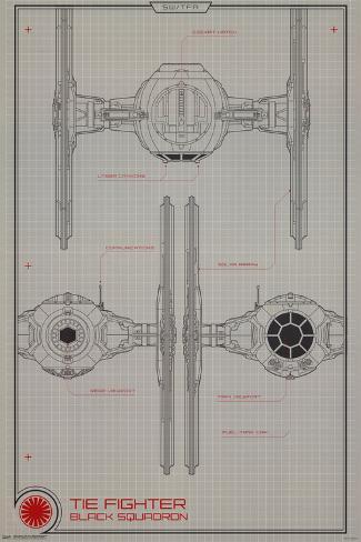 Collector - Star Wars - Black Squadron Lamina Framed Poster