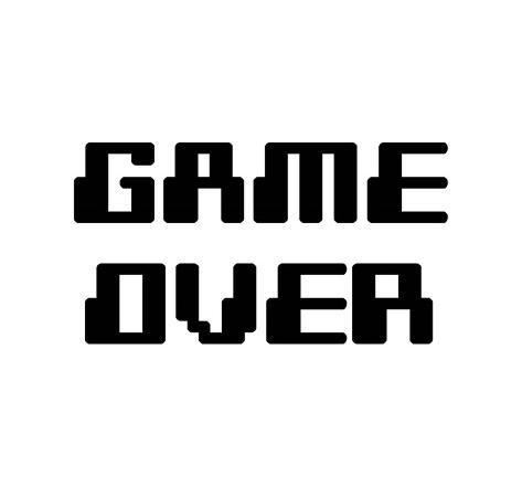 game over white prints by color me happy at allposters com