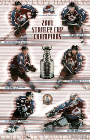 Colorado Avalanche 2001 Stanley Cup Champions Sports Poster Print Poster