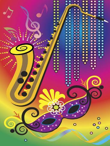 Colorful Symbols of Mardi Gras Photo