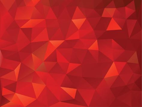 Abstract Geometrical Triangles Background Premium Giclee Print