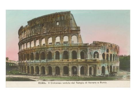 Colosseum, Rome, Italy Art Print