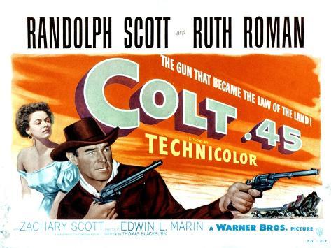 Colt .45, Ruth Roman, Randolph Scott, 1950 Fotografia