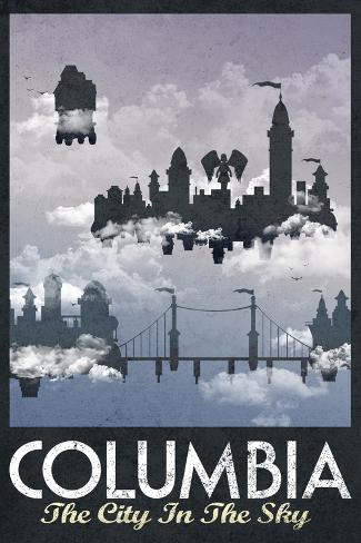 Columbia Retro Travel Poster Poster