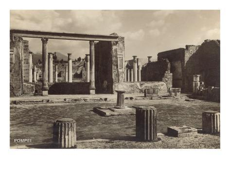 Columns and Ruins in Pompeii Art Print
