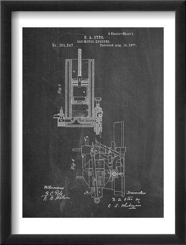 Combustion Engine Patent 1877 Framed Art Print