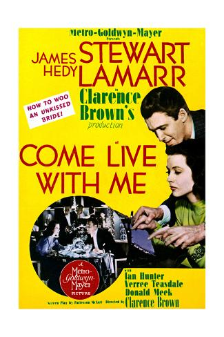 Come Live with Me - Movie Poster Reproduction Art Print