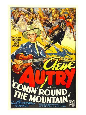 Comin' Round the Mountain, Gene Autry, Smiley Burnette, 1936 Photo
