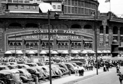 Comiskey Park Chicago Front Gates Archival Photo Sports Poster Masterprint