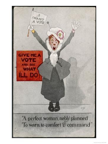 Commanding Suffragette Just Give Me The Vote And See What