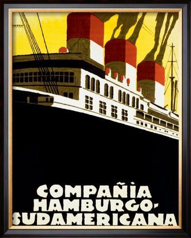 Compania Hamburgo Sudamericana Framed Giclee Print