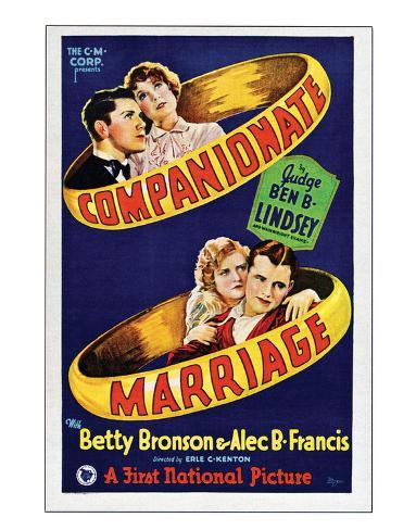Companionate Marriage - 1928 Giclee Print