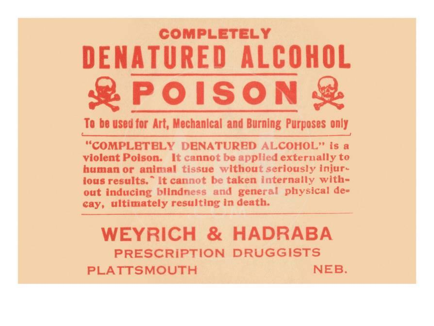 Completely Denatured Alcohol Poison