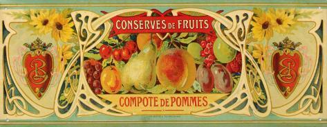 Compote De Pommes Tin Sign
