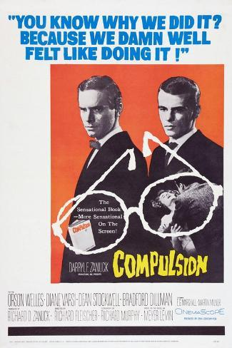 Compulsion, Orson Welles, Dean Stockwell, 1959 Art Print