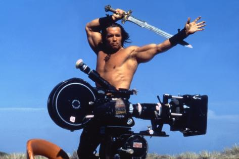 Conan the Barbarian 1982 Directed by John Milius on the Set, Arnold Schwarzenegger. Photo