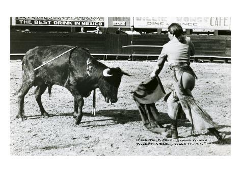 Conchita Cintron Killing Bull Art Print