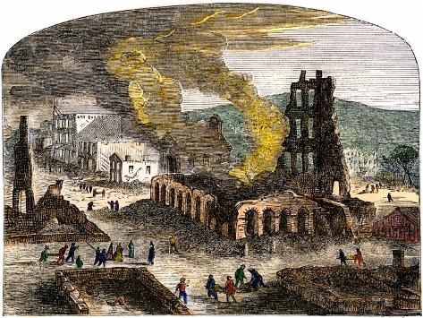 Confederate Quantrill Raid Burns Lawrence, Kansas, 1863 Giclee Print
