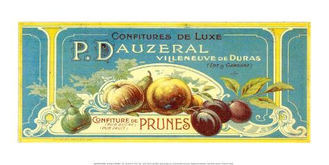 Confitures De Prunes Luxe Art Print