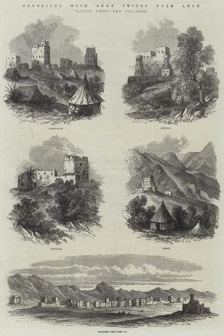 Conflicts with Arab Tribes Near Aden, Native Forts and Villages Giclee Print