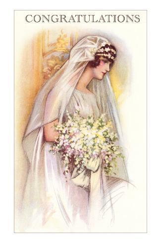 Congratulations to the Bride, Old Fashioned Masterprint