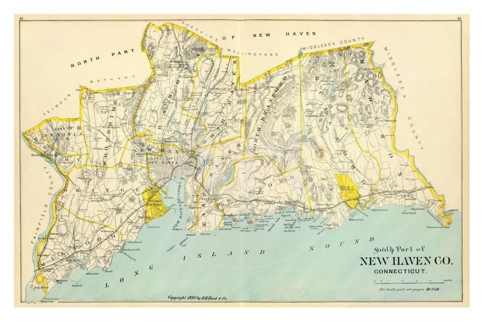 Connecticut New Haven County South C 1893 Poster Allposters Com