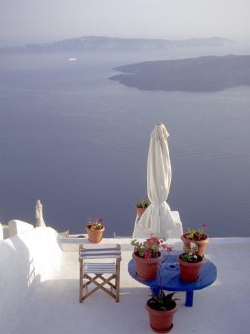View of Water, Santorini, Greece Photographic Print