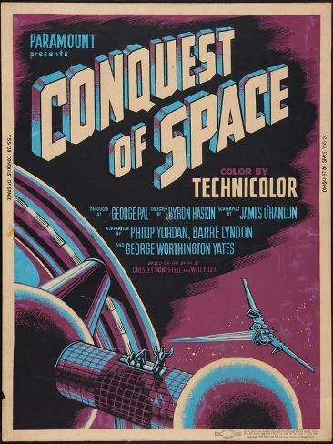 CONQUEST OF SPACE, poster art, 1955. Konstprint
