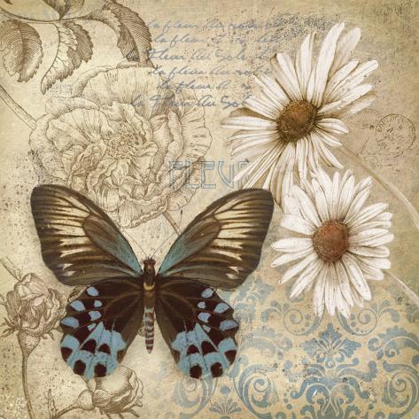 Butterfly Garden I Art Print