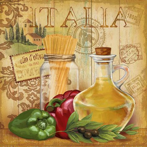 Italian kitchen ii print by conrad knutsen at allposters for Italian kitchen prints