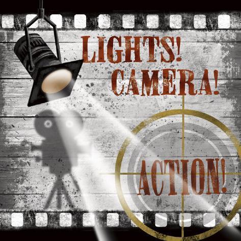 Lights! Camera! Action! Art Print