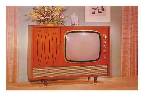 Console TV, Retro Art Print