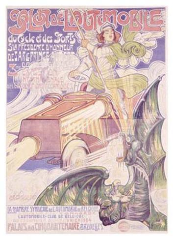 Salon de l'Automobile Giclee Print