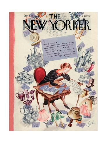 The New Yorker Cover - June 11, 1938 Premium Giclee Print