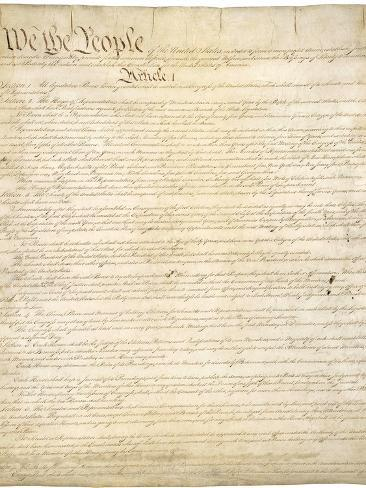 Constitution of the United States Photographic Print
