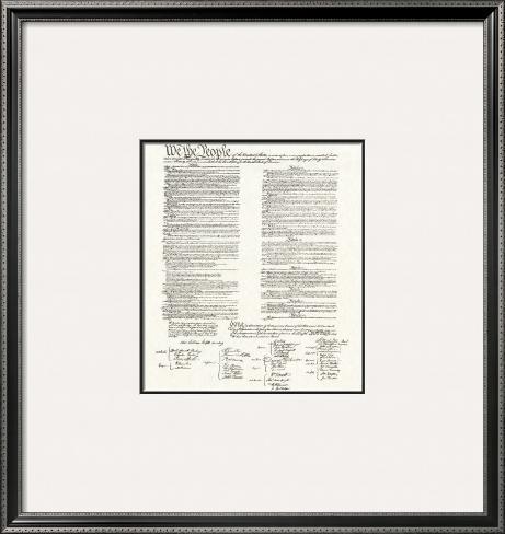 Constitution Framed Art Print