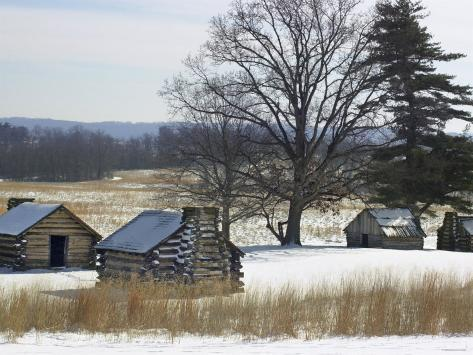 Continental Soldiers' Cabins Reconstructed at the Valley Forge Winter Camp, Pennsylvania Photographic Print
