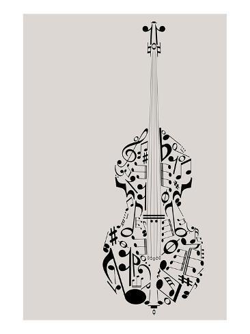 Contrabass Of Musical Symbols Prints Allposters