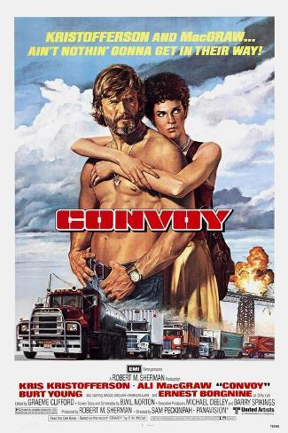 Convoy, Kris Kristofferson, Ali MacGraw, 1978. (c) United Artists/ Courtesy: Everett Collection Art Print
