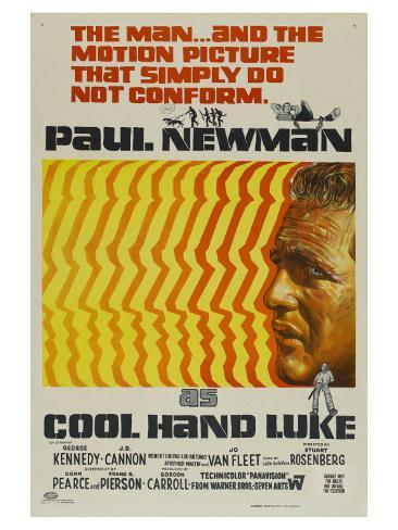 Cool Hand Luke, Australian Movie Poster, 1967 アートプリント