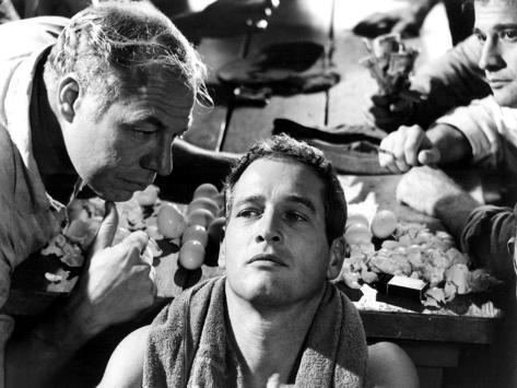 Cool Hand Luke, George Kennedy, Paul Newman, Lou Antonio, 1967 Foto