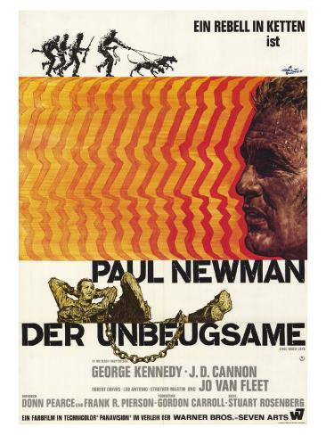 Cool Hand Luke, German Movie Poster, 1967 Art Print