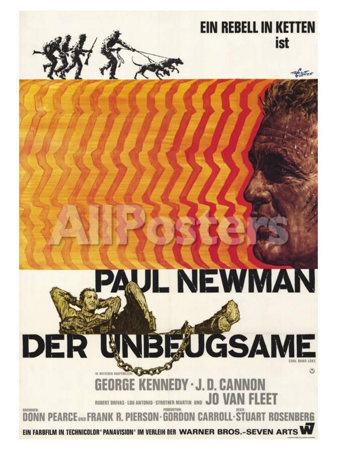 オールポスターズの cool hand luke german movie poster 1967 ポスター