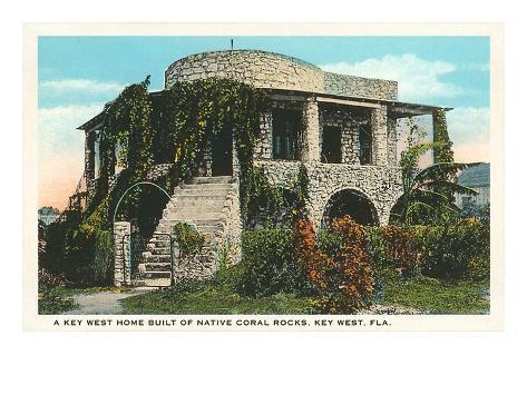 Coral House, Key West, Florida Art Print