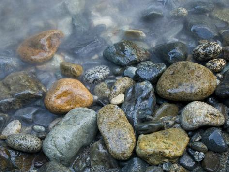 Rocks at edge of river, Eagle Falls, Snohomish County, Washington State, USA Photographic Print